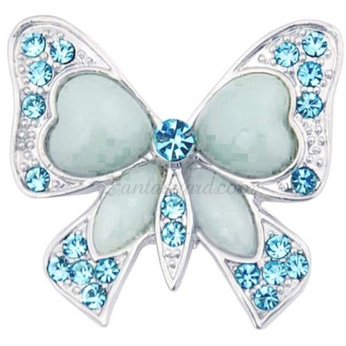 Turquoise Blue Butterfly Bow Brooch