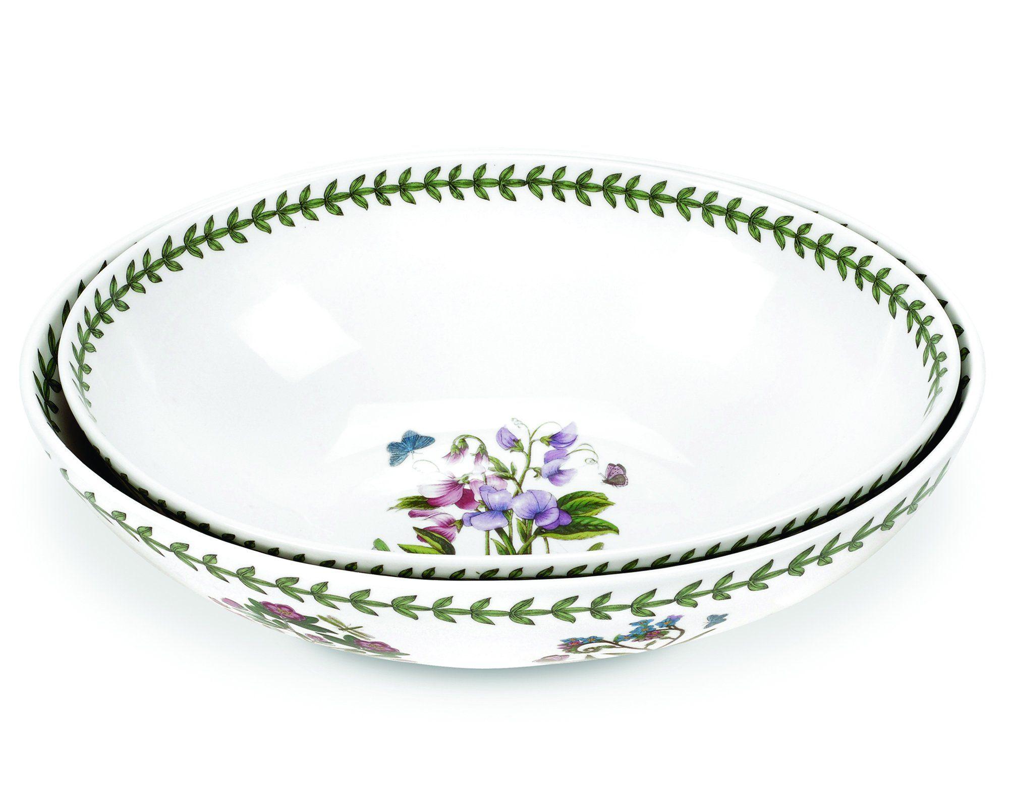 Portmeirion Botanic Garden Oval Nesting Bowls, Set of 2