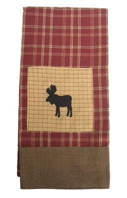 Backwoods Moose Dish Towel Moose Decor Moose Crafts Moose Lodge