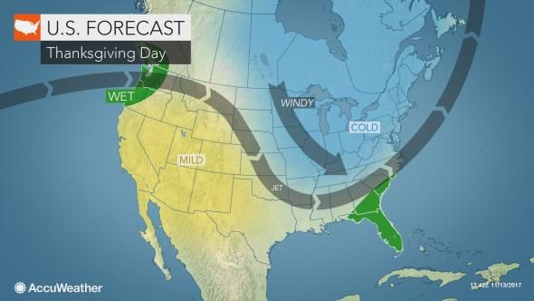 Static Us Thanksgiving Day Jet Stream Weather Weather News Severe Weather