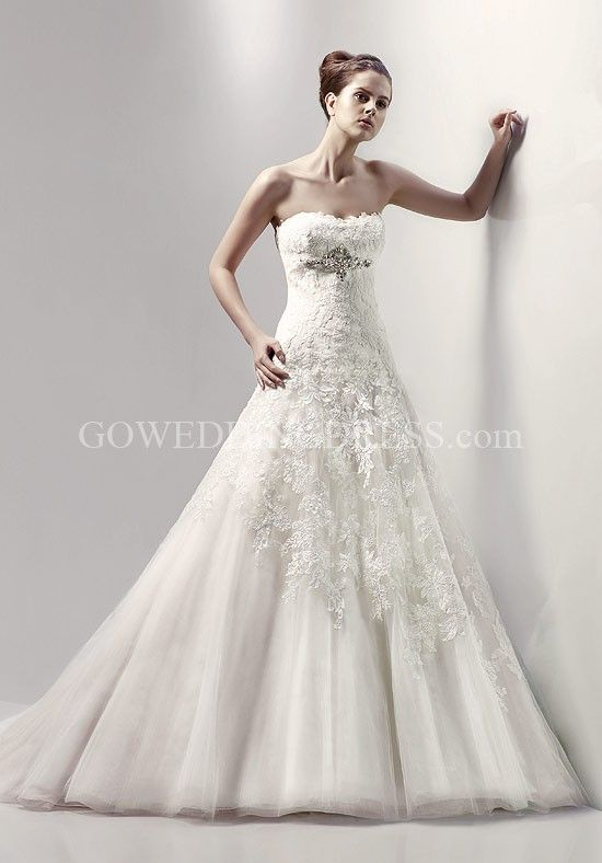 A-Line Strapless/ Sweetheart Floor Length Attached Silky Organza ...