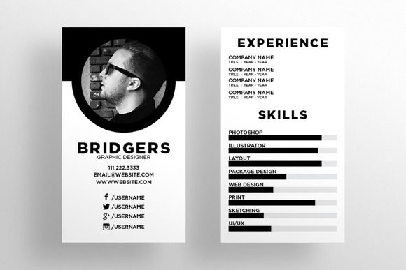 The Resume - Business Card Template Card templates and Business - resume business cards