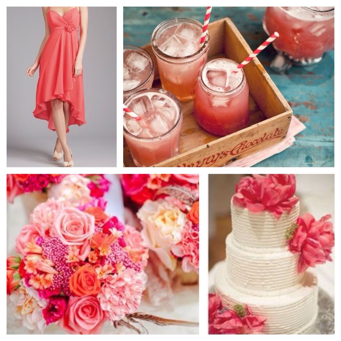 Freshen up your summer wedding with this juicy hue: Watermelon! www.cakeandbubbly.com @cakeandbubbly