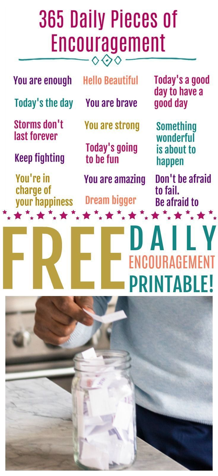 Everyone needs a little pick me up sometimes. Start your day off right with this 365 Daily Quotes of Encouragement Free Printable! # encouragement Quotes 365 Daily Quotes of Encouragement - We're Parents #365motsbocalidees Everyone needs a little pick me up sometimes. Start your day off right with this 365 Daily Quotes of Encouragement Free Printable! # encouragement Quotes 365 Daily Quotes of Encouragement - We're Parents #365motsbocalidees