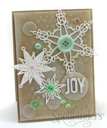 Spellbinders: Snowflake Bliss card by Julia Stainton - 8/29/14