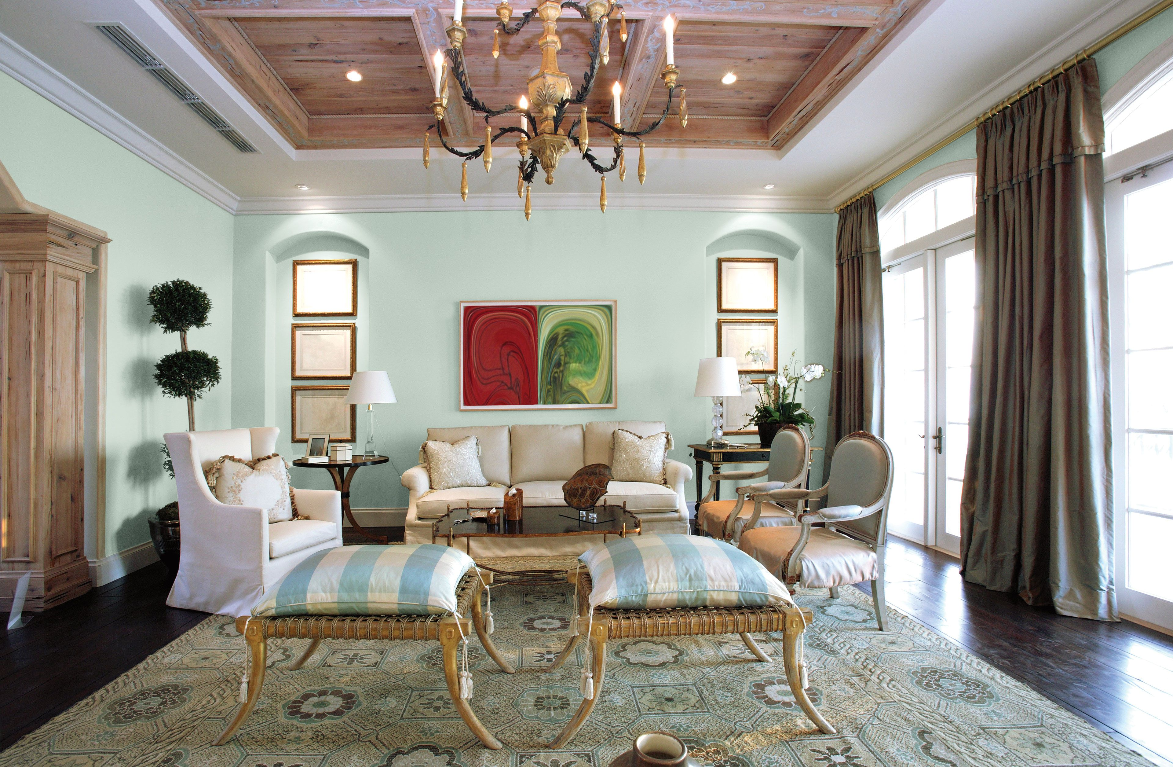 Cool light colors can open a space as well as some - Paint colors to make a room look brighter ...