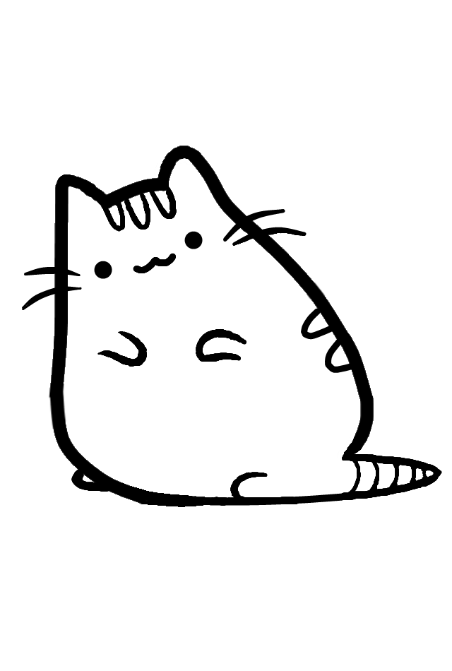 Pusheen Cat Printable Coloring Pages  Cat Coloring Pages