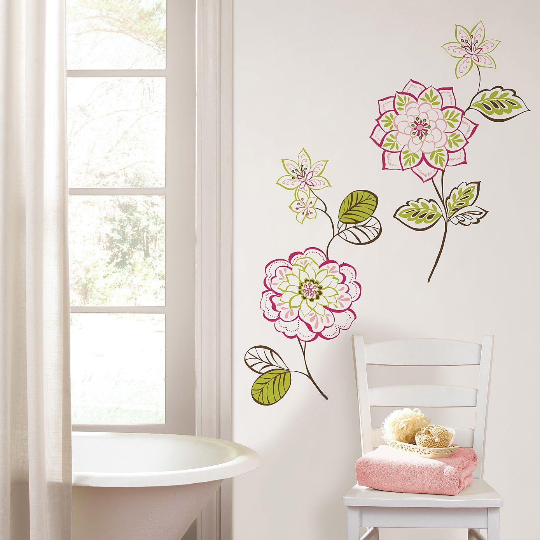 Wall Pops Des Fleurs Wall Decals Bathroom Design Small Wall