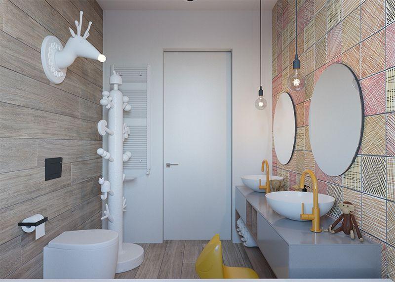 D coration intemporelle pour une chambre d 39 enfants child salle de bain salle de bain enfant - Deco salle de bain enfant ...