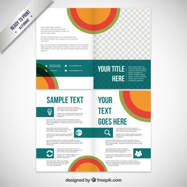 Business brochure template Free Vector u003du003e More at designresources - business pamphlet templates free