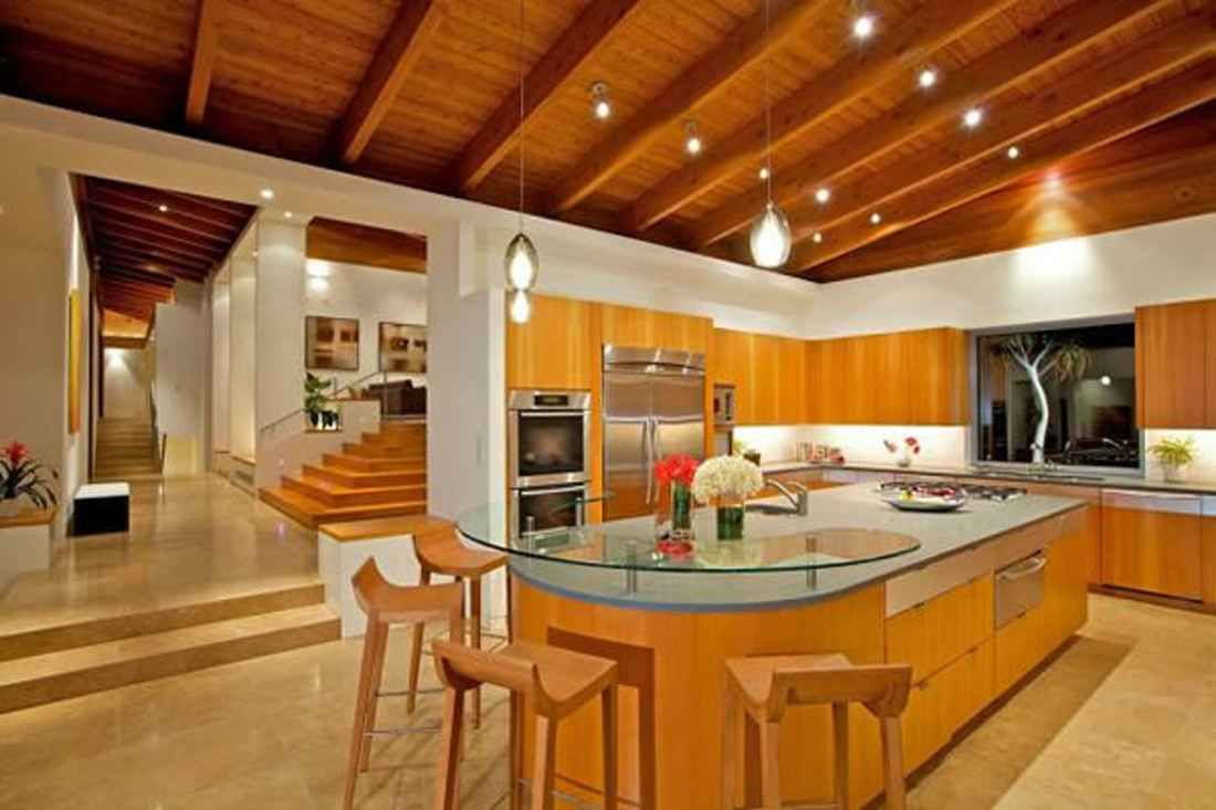 California The Hilltop Luxury House Design In California Kitchen Area Love  The Ceiling Part 62