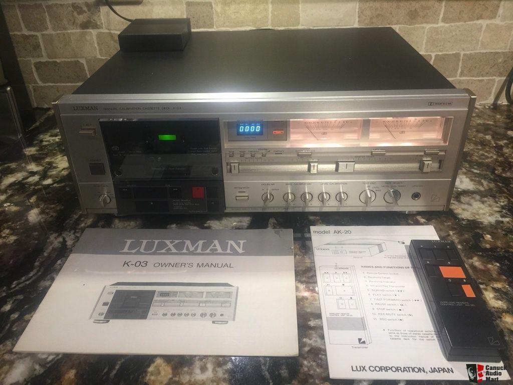 Luxman K 03 Flagship Cassette Deck Photo871212 Deck Repair Cassette Deck