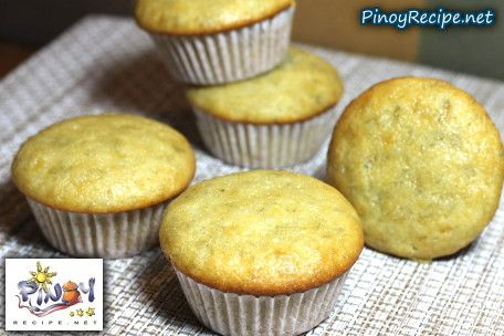 Banana Cupcake Recipe http://www.pinoyrecipe.net/banana-cupcake-recipe/