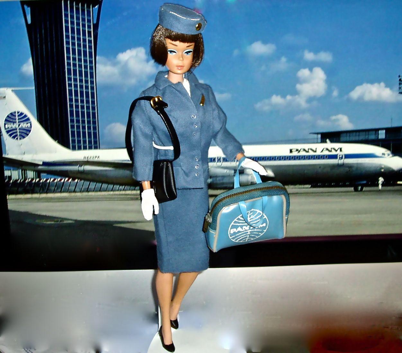 Vintage Pan Am Flight Attendant Barbie Careers Pinterest