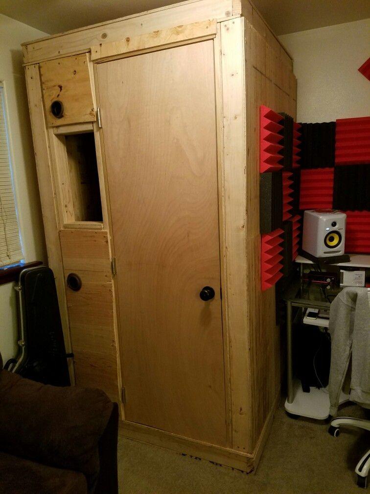 Complete diy portable vocal booth recording studio home