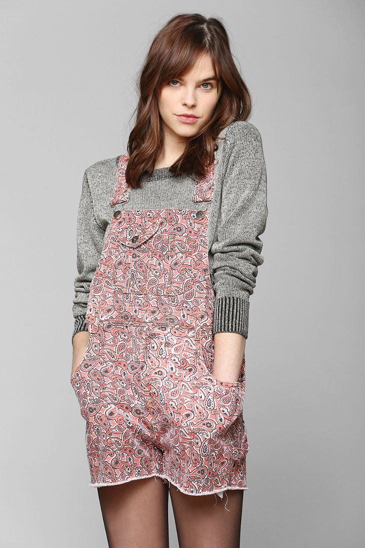 Evil Twin Southland Paisley Denim Overall Short