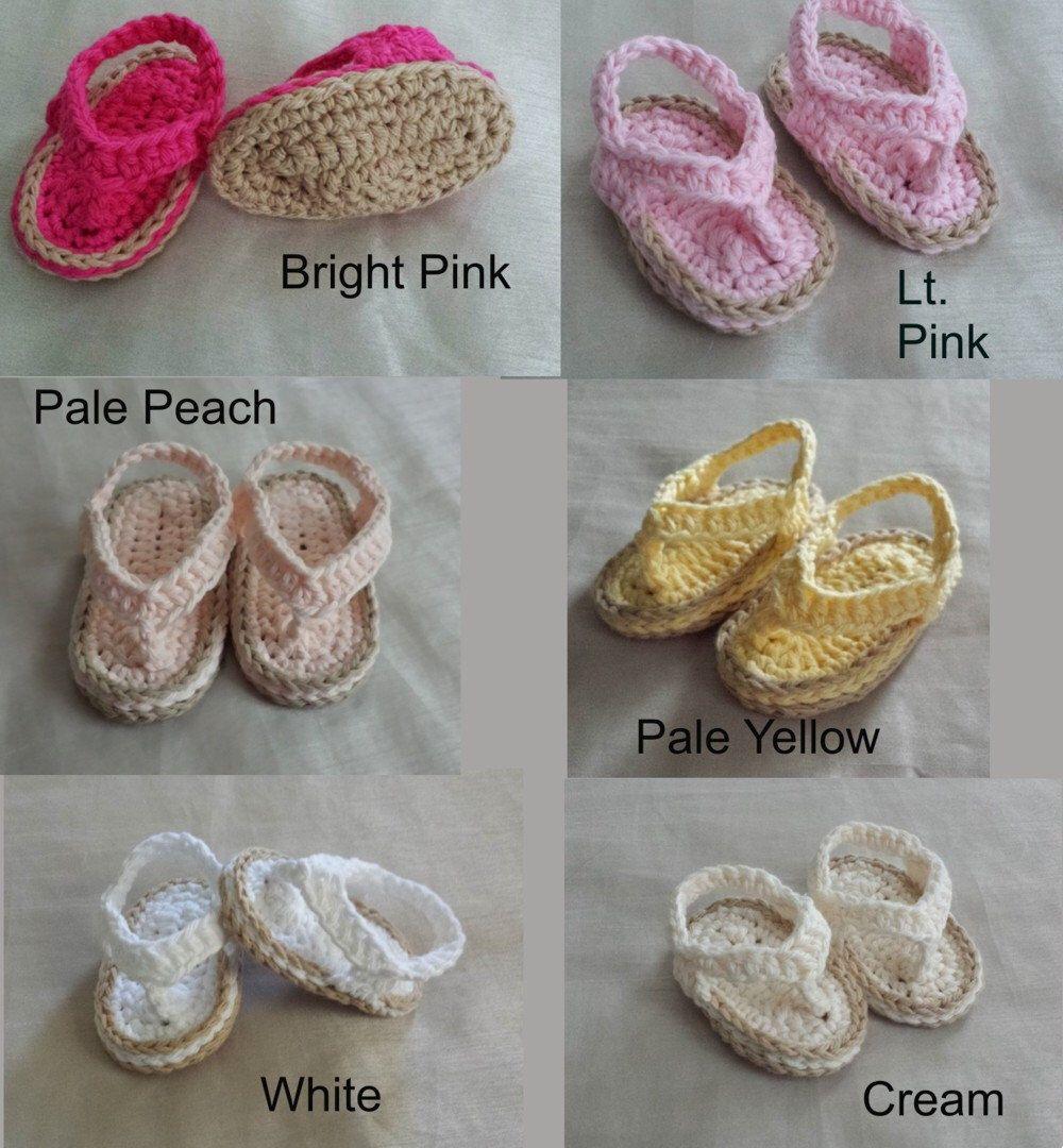 Großzügig Häkelarbeitbaby Flip Flops Frei Muster Ideen ...