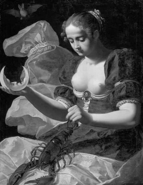 Seeing this as Atu 18, The Moon   Inkonstanz, Allegorie der Unbeständigkeit, Abraham Janssens, 1617.