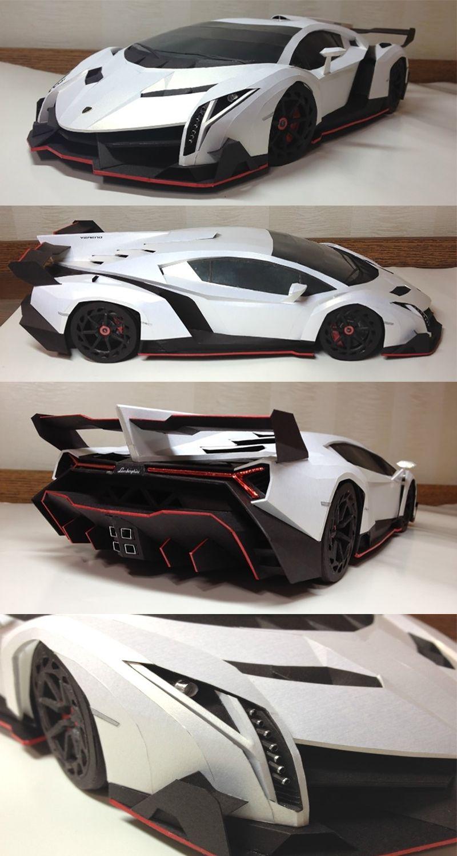 Lamborghini Veneno Paper model