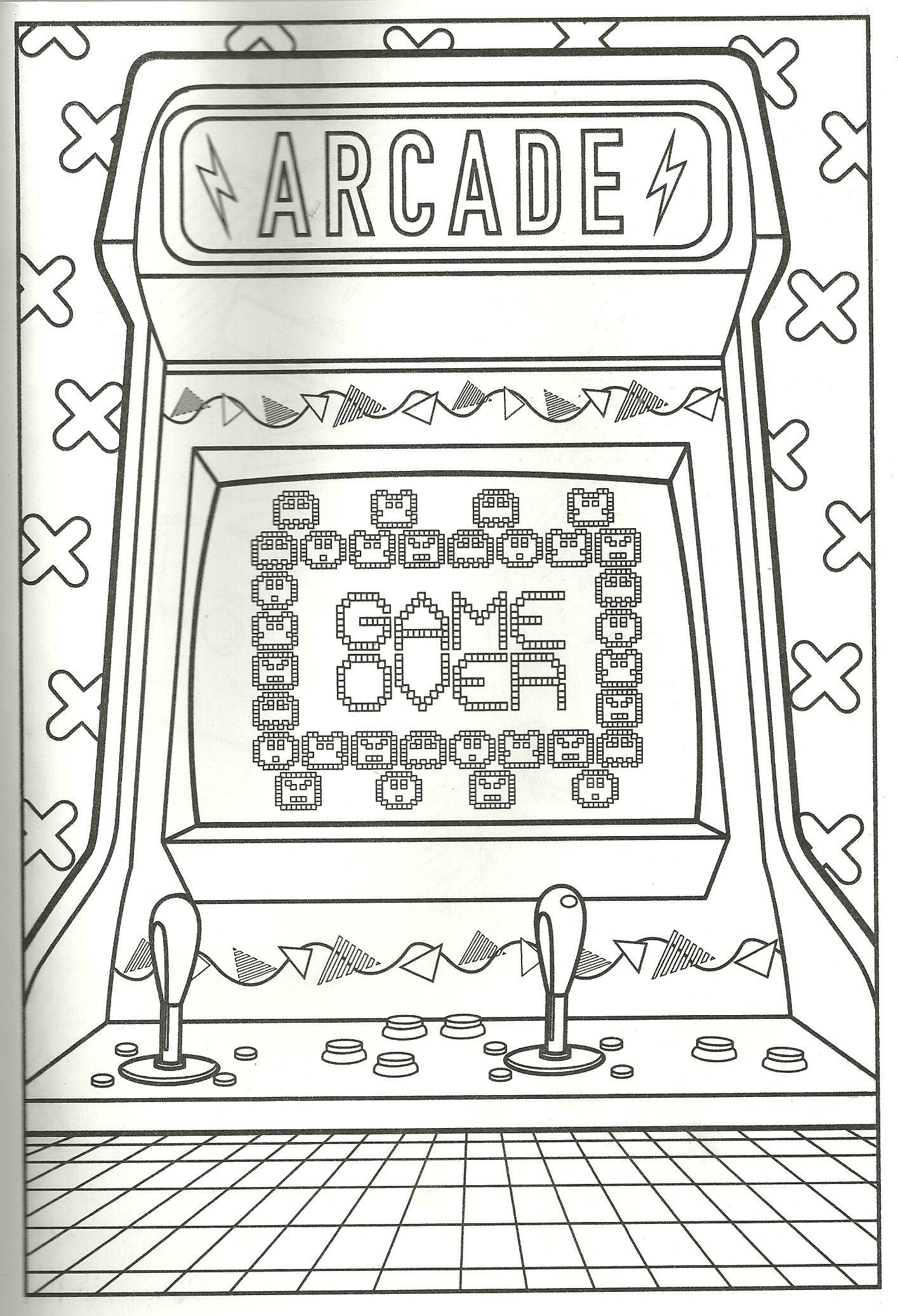 80s Arcade Pac Man Pong Or Whatever You Color It To Be