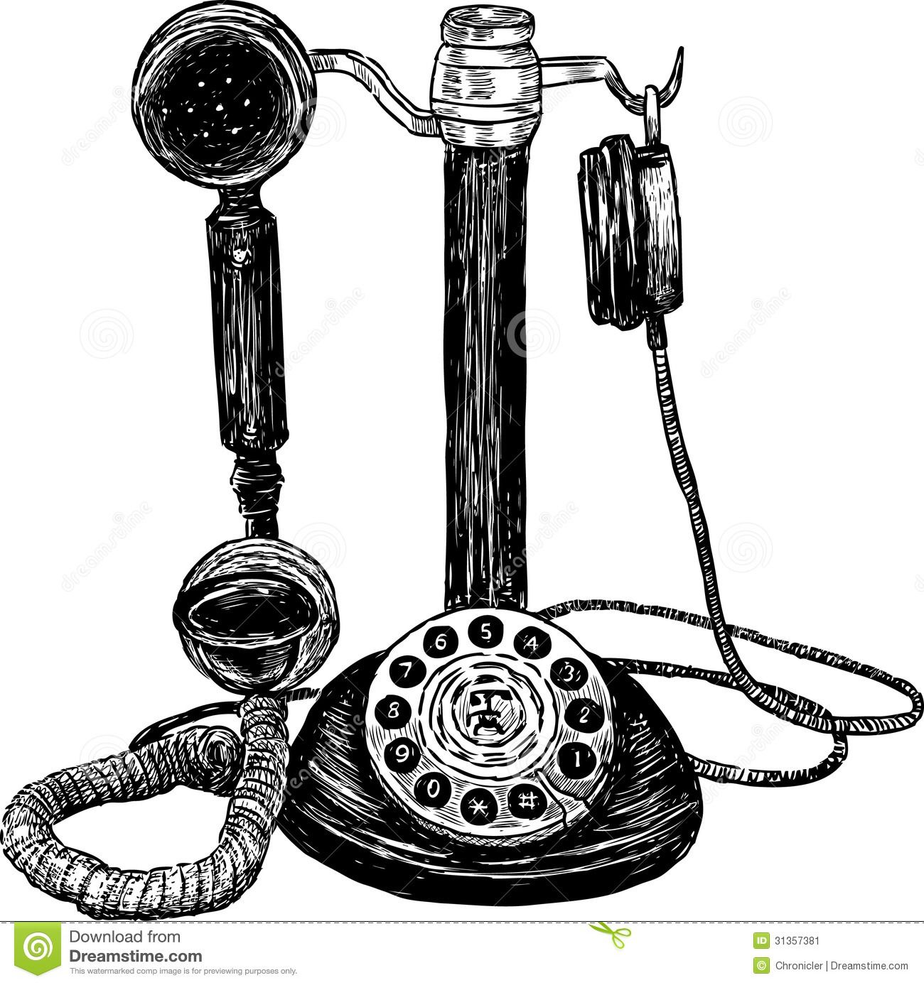 Image Result For Drawing Of Old Fashioned Telephone