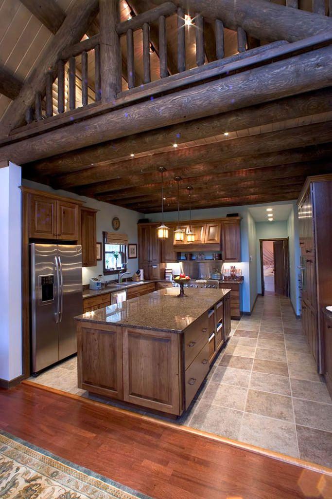 Extreme Makeover Katahdin Cedar Log Homes Log Home Kitchens