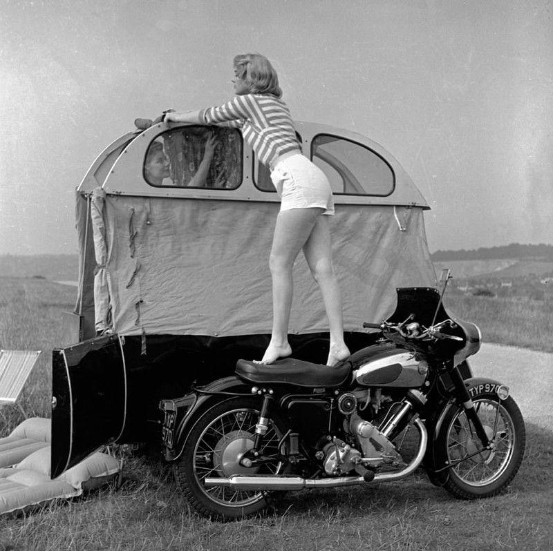 Photo of Vintage motorcycle sidecar camper – photos