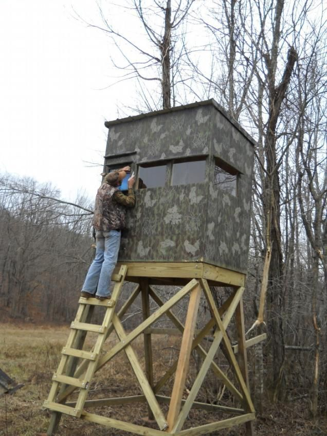 Homemade Treestand Roof Amp Product Image Field U0026 Stream