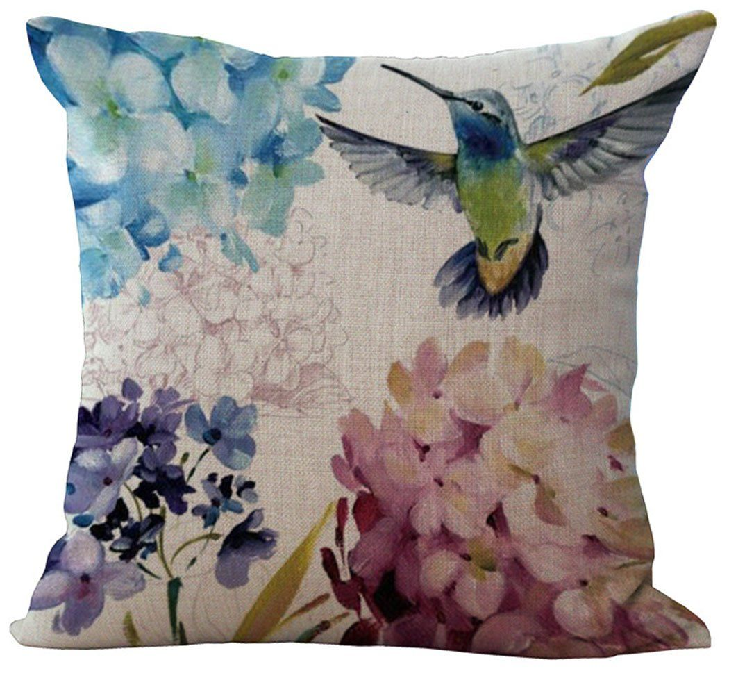 "1 X 18 X 18"" Sunflower Vintage Flower Cotton Linen Decorative Throw Pillow Cover Cushion Case Cloth Art Toy Pillow Case"