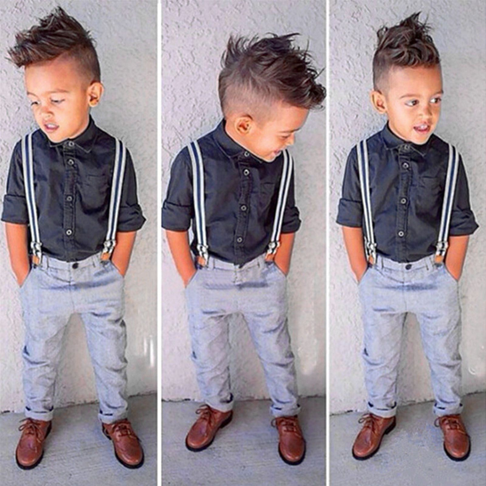 Long Pant Gentleman Suit Kids Clothes Outfits Set Toddler Baby Boys Formal Top