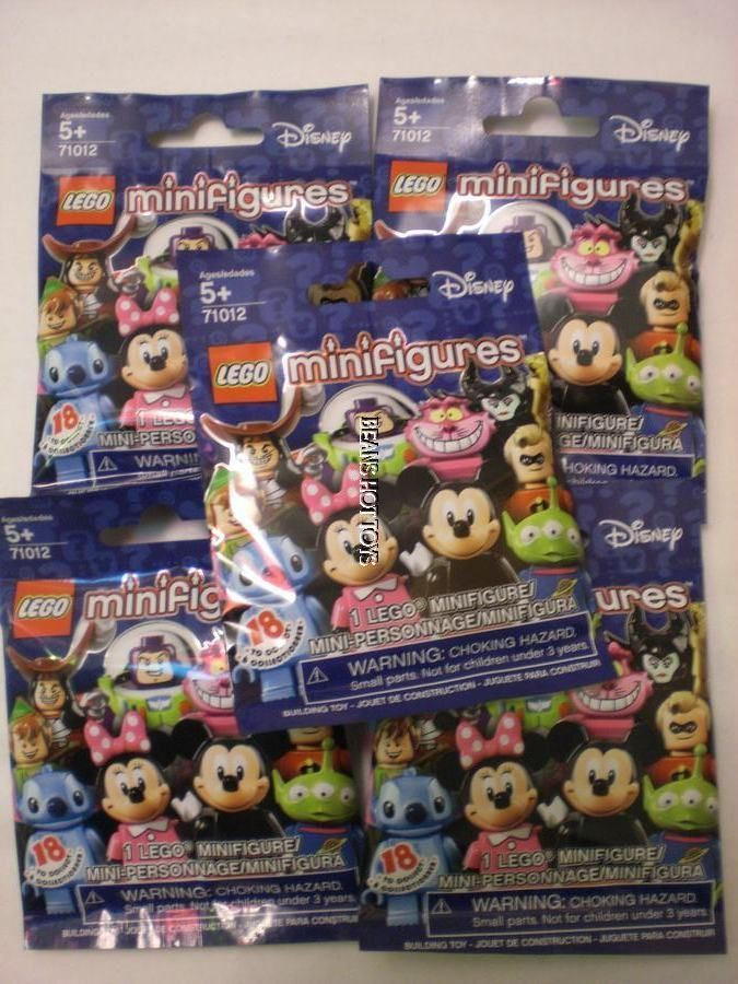 5 *DISNEY Lego 71012 Mini Figures* Blind Bags SEALED