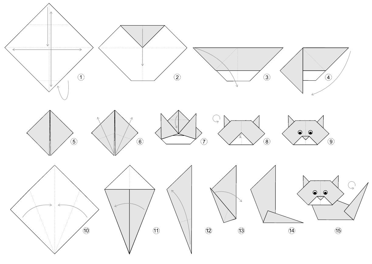 Origami kitty origami cat origami and origami instructions make this friendly little origami kitty designed by the freekidscrafts team and add your own markings to make it your own jeuxipadfo Gallery