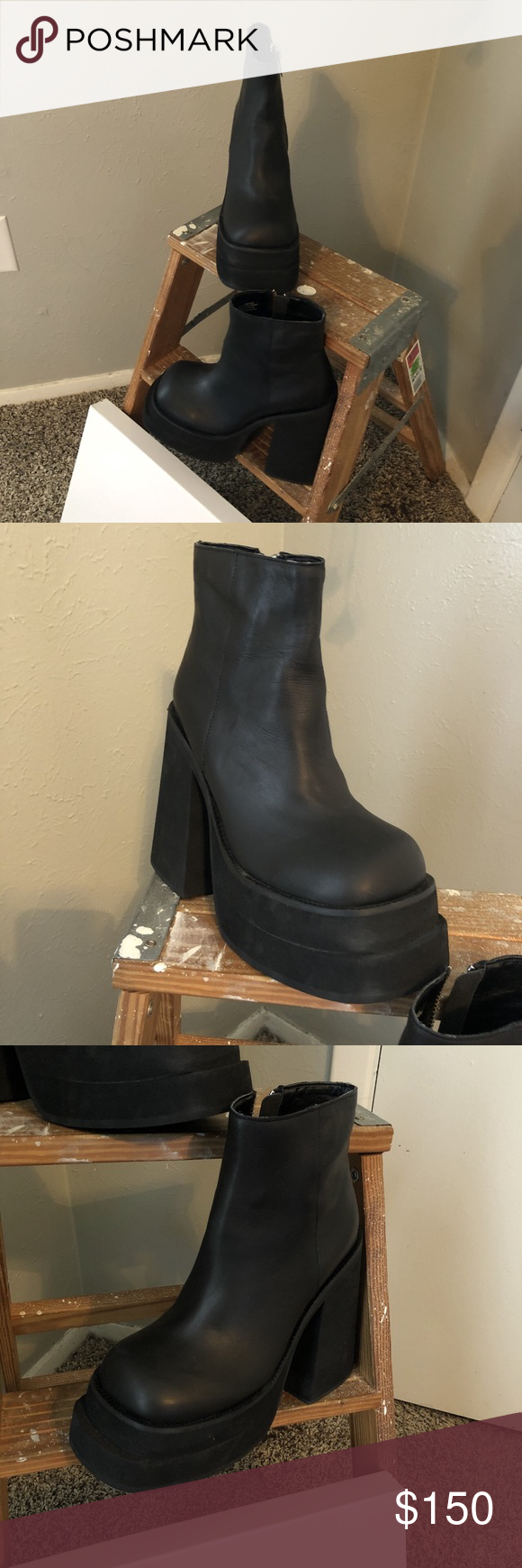 565d90b07b Unif brat platform boots Very cute 90s platform boots, worn once but just  not my style. UNIF Shoes Heeled Boots