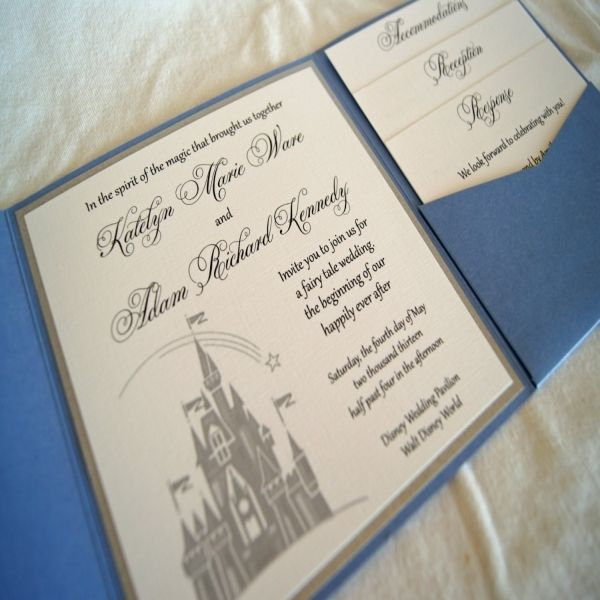 Nice 12+ Disney Themed Wedding Invitations