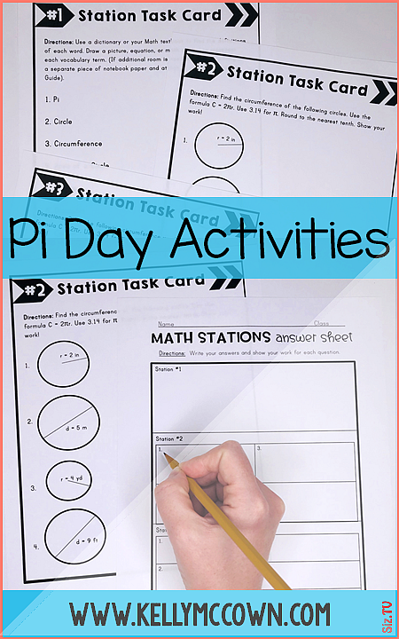 Pi day activities middle school Pi day ideas and activities for Pi day party in your classroom Pi d