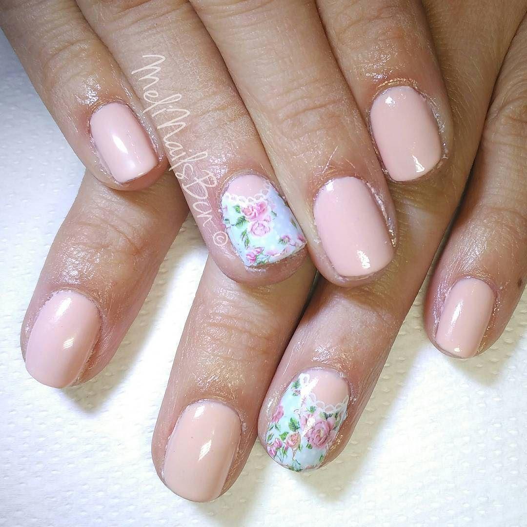 Romantic spring u asnaturales con esmaltado for Decoracion unas shellac