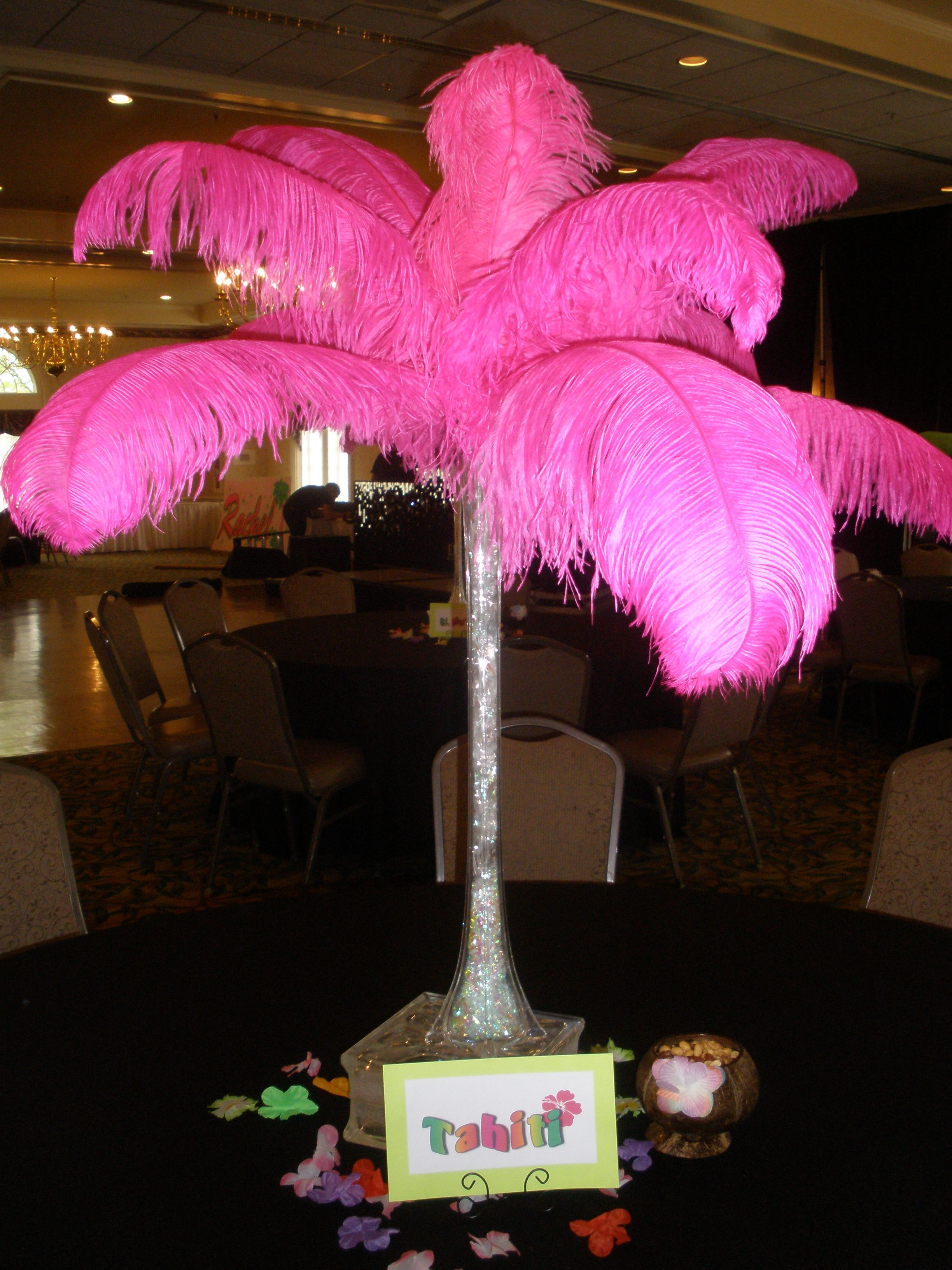 Ostrich feather centerpieces have become such a classic statement ...
