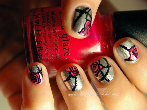 impressive freehand nail art