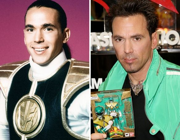 """Mighty Morphin Power Rangers"""" Cast -- Then & Now 