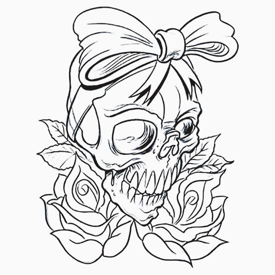 Gallery 'Biker Chick Voodoo Tattoo Skull' Essential T Shirt by closeddoor is free HD wallpaper.