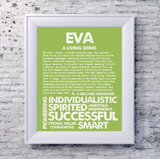 EVA Personalized Name Print / Typography Print / by OhBabyNames