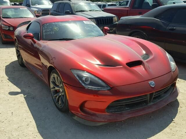 Salvage 2013 Dodge Viper Coupe For Sale Certificate Of Destruction Title Dodge Viper Car Detailing Sports Car