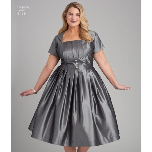Simplicity Pattern 8439 Misses\'/Women\'s Dress with Bodice Variations ...