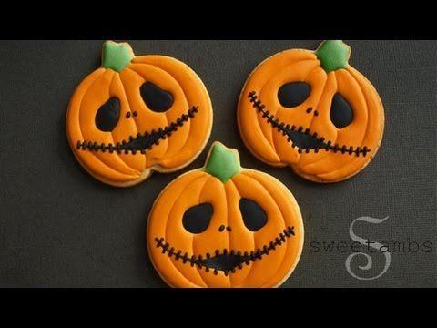 ▷ Jack Skellington Jack O\u0027Lantern Cookies! Collaboration With The - halloween pumpkin cookies decorating