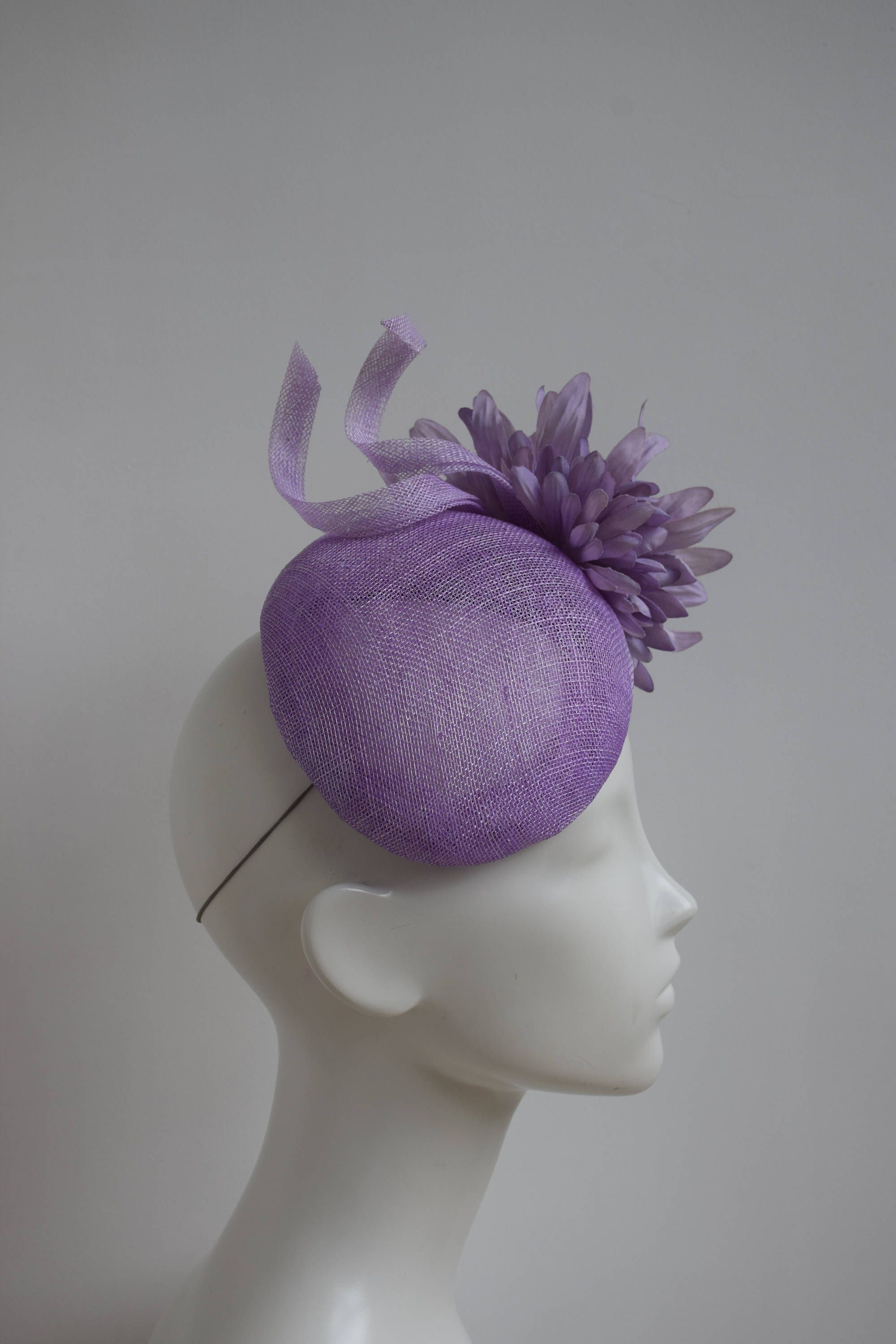 Lilac Fascinator - Kate Hat - Lavender Cocktail Hat - Lilac Wedding Hat -  Pastel Pale Purple Hat - Mother of Bride Hat - Race Derby Day Hat by ... 703f158f88a