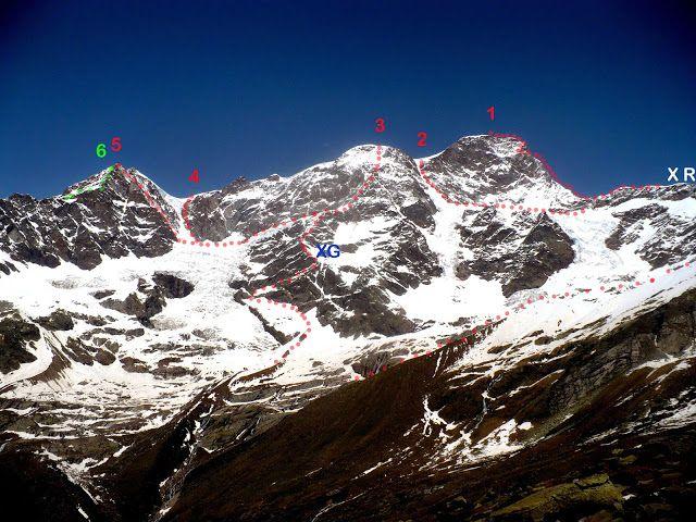 gae valle: ALPINISMO CLASSICO SULLA PARETE SUD DEL MONTE ROSA...