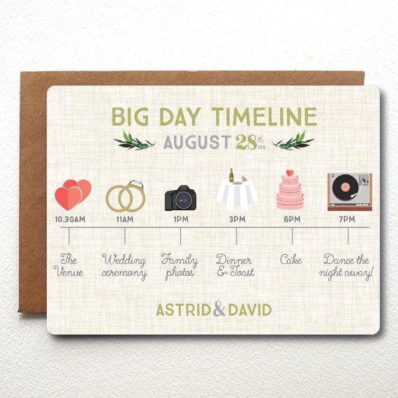 Custom Wedding Timeline Invitation Fully By Thebritishrule