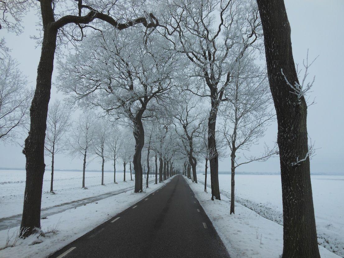 mooi winters plaatje vandaag tussen oude pekela en wedde in