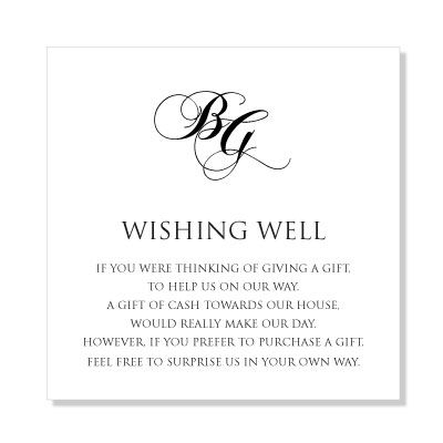 Wishing Well Wording Google Search Fun Wedding Invitations