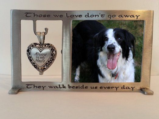 Pet Memorial Photo Frame with Heart Shaped Urn Locket https://www ...
